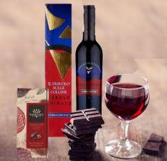 Vino Barolo Chinato e Cioccolato Extra Fondente Idea Regalo