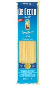 Pasta Spaghetti n.12 De Cecco 500 gr