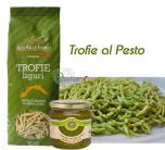 Trofie Artigianali al Pesto (con aglio)
